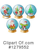 Royalty-Free (RF) Snow Globe Clipart Illustration #1279552