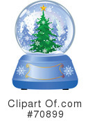 Royalty-Free (RF) Snow Globe Clipart Illustration #70899