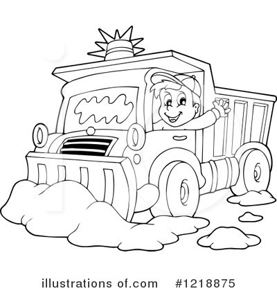 Snow plow clipart 1218875 illustration by visekart for Snow plow coloring pages