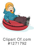 Snow Tubing Clipart #1271792 by BNP Design Studio