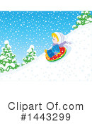 Snow Tubing Clipart #1443299 by Alex Bannykh