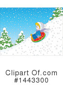 Snow Tubing Clipart #1443300 by Alex Bannykh