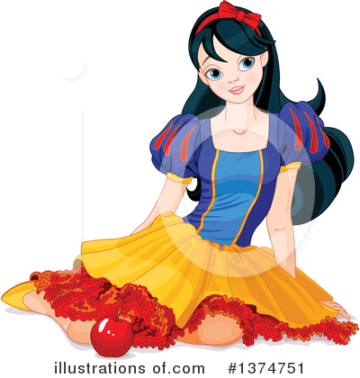 Snow White Clipart #1374751 by Pushkin