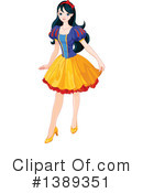Royalty-Free (RF) Snow White Clipart Illustration #1389351