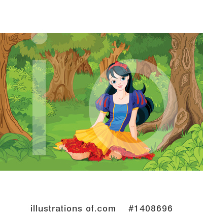 Snow White Clipart #1408696 by Pushkin