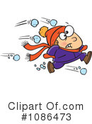 Royalty-Free (RF) Snowball Fight Clipart Illustration #1086473