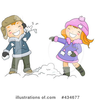 Snowball Fight Clipart 434677 By BNP Design Studio Royalty Free RF