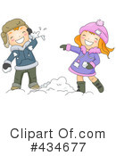 Snowball Fight Clipart #434677 by BNP Design Studio