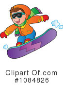 Snowboarding Clipart #1084826 by visekart