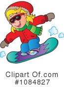 Snowboarding Clipart #1084827 by visekart