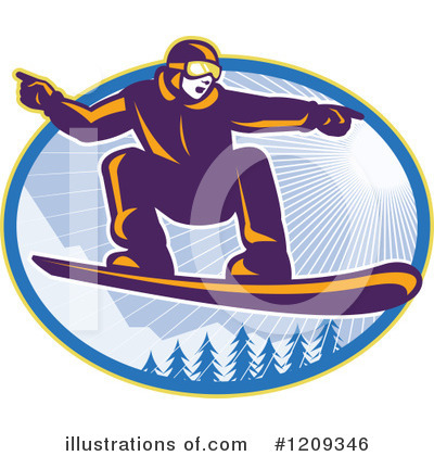 Snowboarding Clipart #1209346 by patrimonio