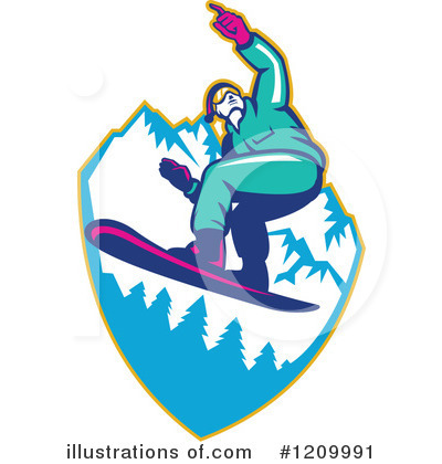 Snowboarding Clipart #1209991 by patrimonio