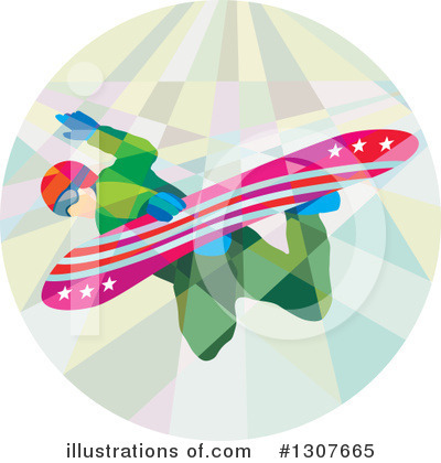 Snowboarding Clipart #1307665 by patrimonio