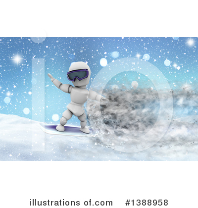 Snowboarding Clipart #1388958 by KJ Pargeter