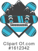 Snowboarding Clipart #1612342 by Vector Tradition SM