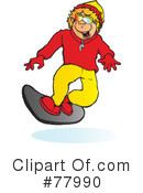 Snowboarding Clipart #77990 by Snowy