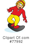 Snowboarding Clipart #77992 by Snowy