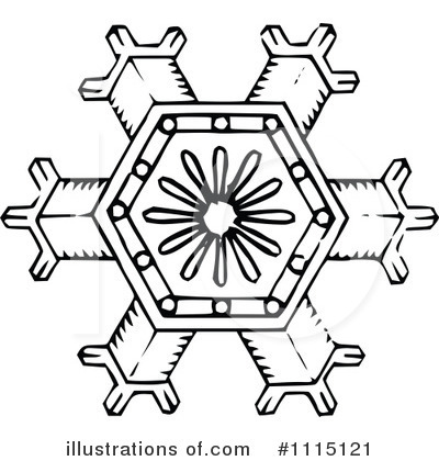 Royalty-Free (RF) Snowflake Clipart Illustration by Prawny Vintage - Stock Sample #1115121
