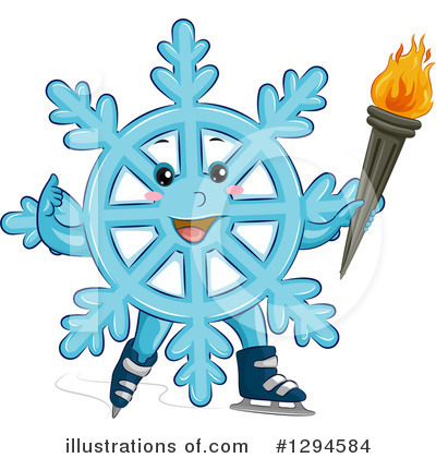 Royalty-Free (RF) Snowflake Clipart Illustration by BNP Design Studio - Stock Sample #1294584