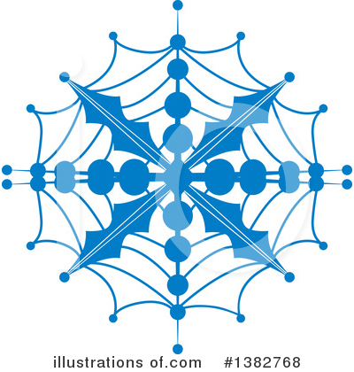Snowflake Clipart #1382768 by MilsiArt