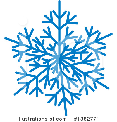 Snowflake Clipart #1382771 by MilsiArt