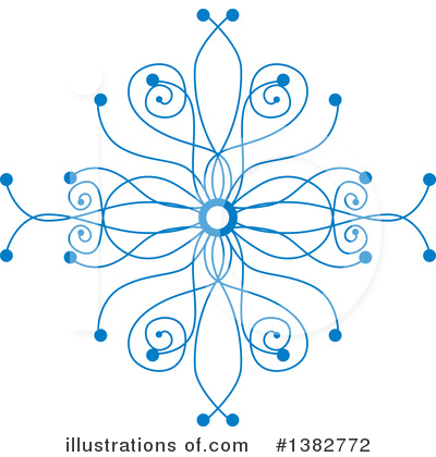 Snowflake Clipart #1382772 by MilsiArt