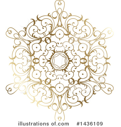 Royalty-Free (RF) Snowflake Clipart Illustration by KJ Pargeter - Stock Sample #1436109