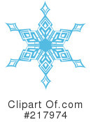 Royalty-Free (RF) snowflake Clipart Illustration #217974