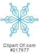 Royalty-Free (RF) snowflake Clipart Illustration #217977