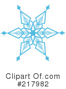Royalty-Free (RF) snowflake Clipart Illustration #217982