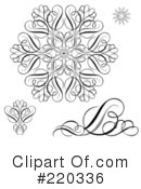 Royalty-Free (RF) Snowflake Clipart Illustration #220336