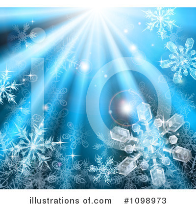 Snowflakes Clipart #1098973 by AtStockIllustration