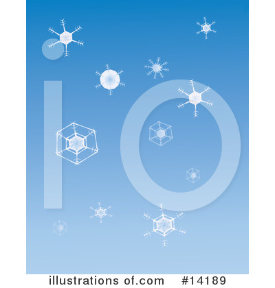 Royalty-Free (RF) Snowflakes Clipart Illustration by Rasmussen Images - Stock Sample #14189