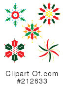 Royalty-Free (RF) Snowflakes Clipart Illustration #212633