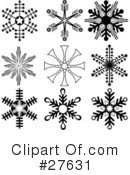 Snowflakes Clipart #27631 by KJ Pargeter