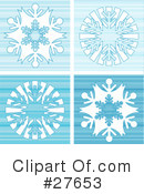 Snowflakes Clipart #27653 by KJ Pargeter