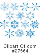 Snowflakes Clipart #27664 by KJ Pargeter
