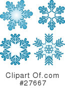 Snowflakes Clipart #27667 by KJ Pargeter