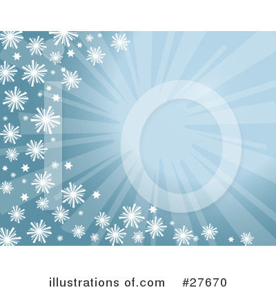 Royalty-Free (RF) Snowflakes Clipart Illustration by KJ Pargeter - Stock Sample #27670
