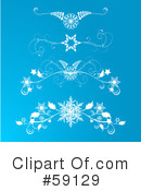 Royalty-Free (RF) Snowflakes Clipart Illustration #59129
