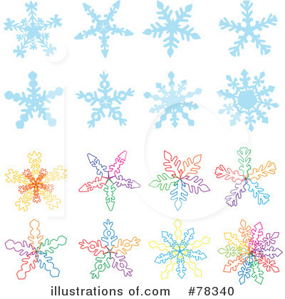 Snowflakes Clipart #78340 by Cherie Reve