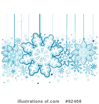 Royalty-Free (RF) Snowflakes Clipart Illustration by BNP Design Studio - Stock Sample #92468