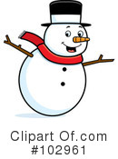 Snowman Clipart #102961 by Cory Thoman