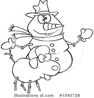 Snowman Clipart #1045728 by toonaday
