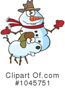 Royalty-Free (RF) snowman Clipart Illustration #1045751