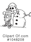 Snowman Clipart #1048208 by toonaday