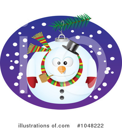 Snowman Clipart #1048222 by toonaday