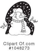 Snowman Clipart #1048273 by toonaday