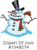 Snowman Clipart #1048274 by toonaday