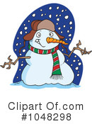 Snowman Clipart #1048298 by toonaday